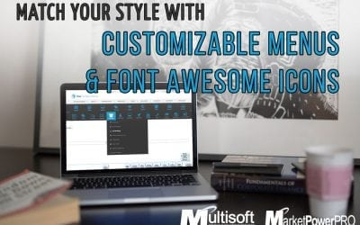 Customizable Menus with Font Awesome Icons!